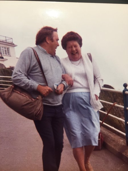 Mick and Bess (my Dad and Nan) enjoying a giggle on the Isle it Wight. Circa 1985