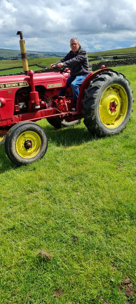 Driving the tractor brought back past memories