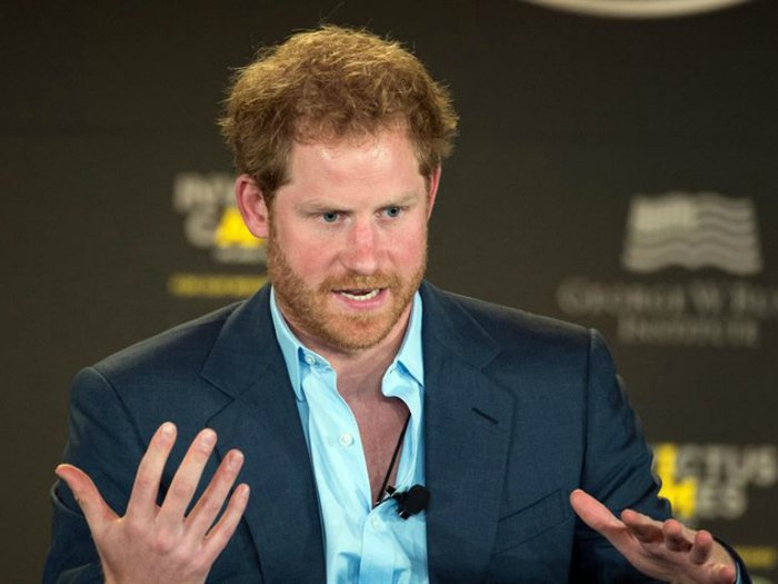 Prince Harry makes an address during the Invictus Games Symposium, another cause close to his heart (DoD News photo by EJ Hersom)