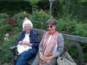 Mum at Rosemoor with Sally Ann