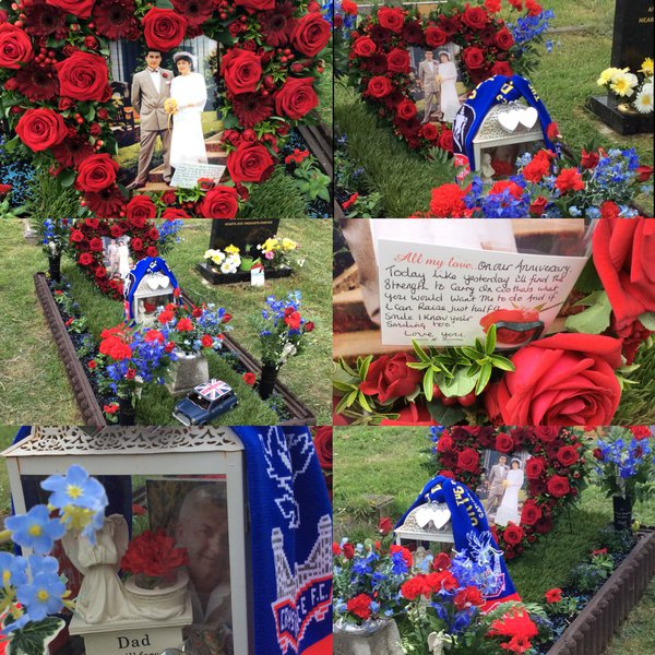 All my love on our Anniversary. You always made me feel I mattered, love you den ❤️? Would you Adam n Eve it Palace playing for  the FA Cup on our Anniversary ❤️??  UP THE PALACE ........