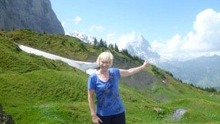 Valerie enjoying the Eiger Trail