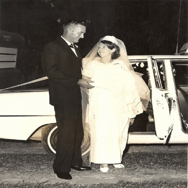 A proud moment for Noel when I had asked him to 'give me away' on my wedding day in 1967.