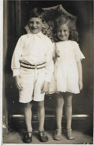 Frank age 6 with mabel