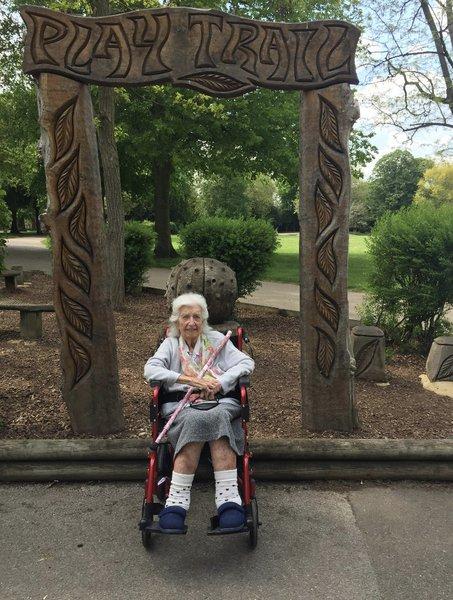 Mum in Gillingham park 2019