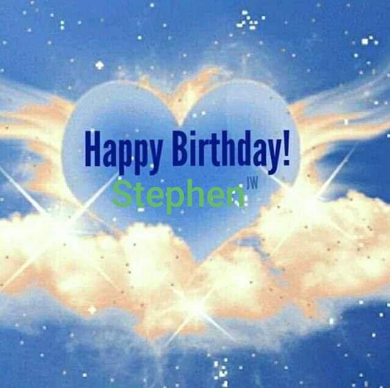 Happy heavenly birthday Stephen 💚xx