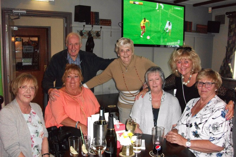 Lovely birthday celebration for Shirley's 70th at The Foresters Arms, Honley, May 2016