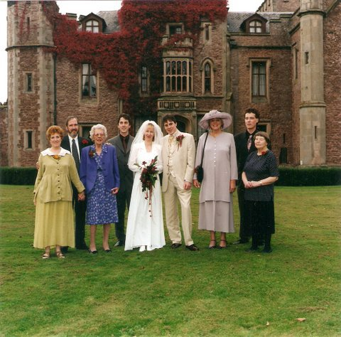 The Hendersons at Michael's (George's grandson) wedding, Rowton Castle October 1999