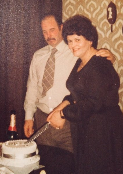 Celebrating Pat and Rays Silver Wedding in March 1980