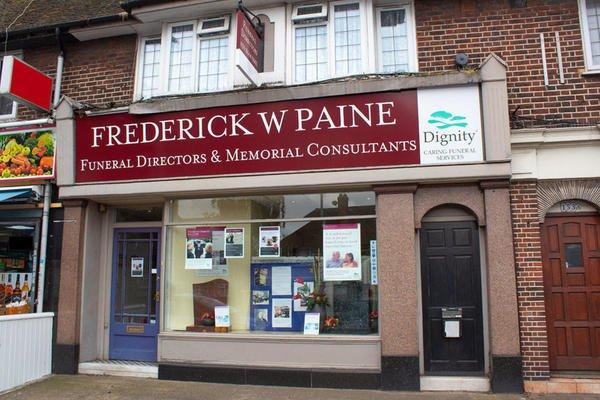 Frederick W Paine Funeral Directors, Sutton, London, funeral director in London