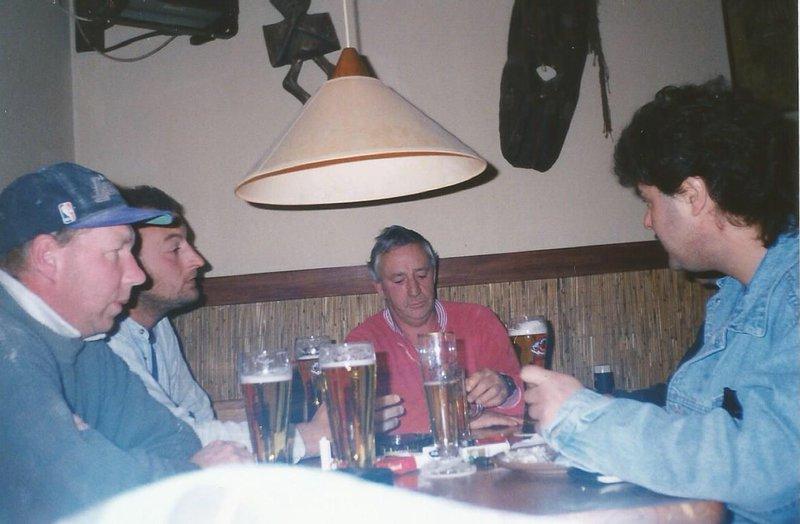 1997, tea break, Rudersdorf Germany