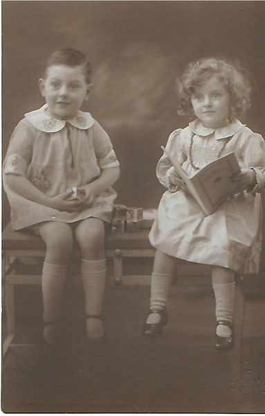 frank age 4 with mabel