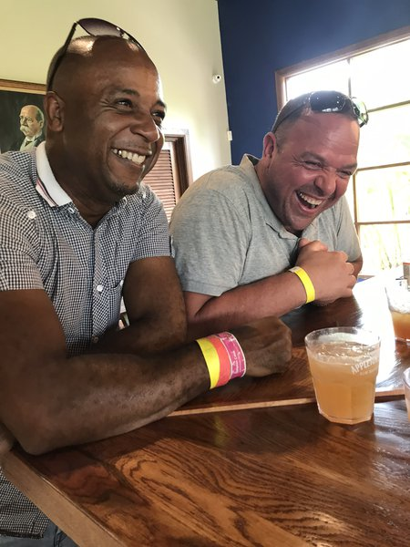 My cousin Mikey & Paul at Appleton's Estate, Jamaica 🇯🇲❤️