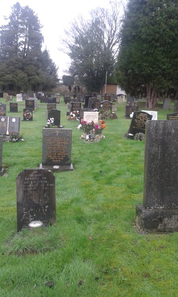 Love the white grave stone in the middle of all the black ones xxx