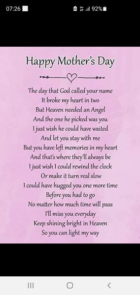 Always in my thoughts ❤ happy mothers day xx
