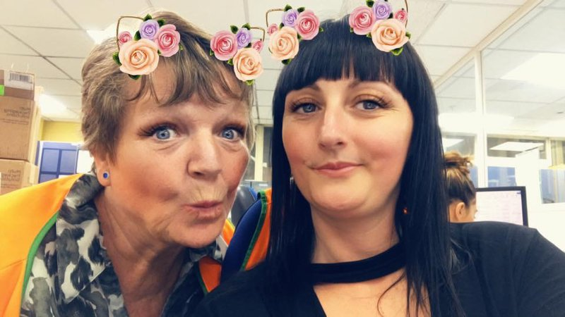 To my lovely Annie will miss you much. There will never be such a beautiful person as you were. Having you as my work mama has been an absolute pleasure, it'll never be the same at work without you. Have a drink up there with our Toby. Love you lots xxx