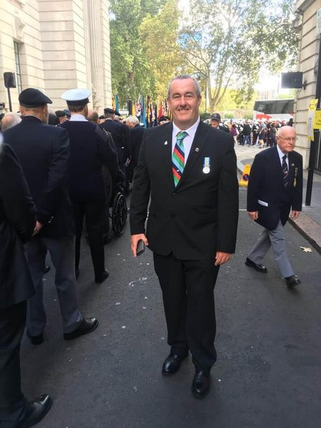 Martin at a Remembrance Day service