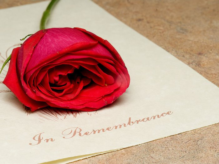 Remembrance card