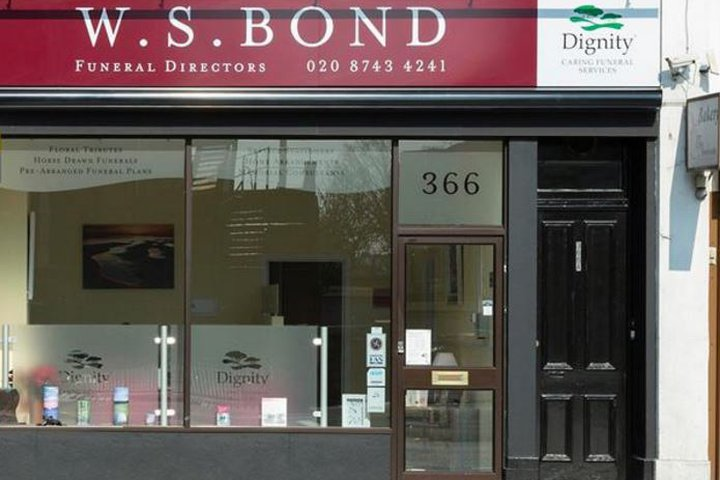 W S Bond Funeral Directors, Shepherds Bush