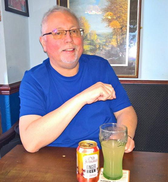 Happy in the pub