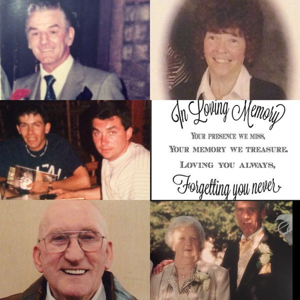 Happy Heavenly New Year Den, Dad, Mum, Nanny Kate, uncle George, our dearest friend and best man Antony Rispoli, uncle George and Father In Law Dennis Xx