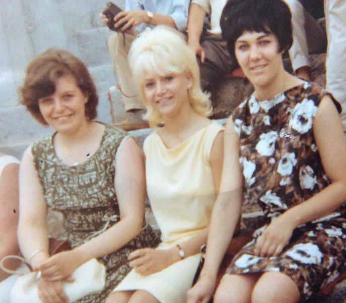Shirley and her life long best friends Patricia and Carole 1960's                                                                                                                                                                   picture provided by Patrici