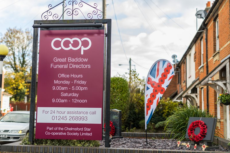 Co-operative Funeral Services Great Baddow, Essex, funeral director in Essex