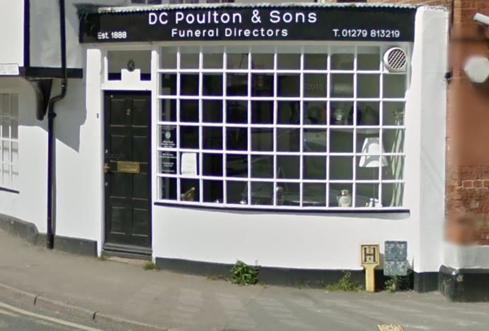 D C Poulton & Sons Funeral Directors, Stansted