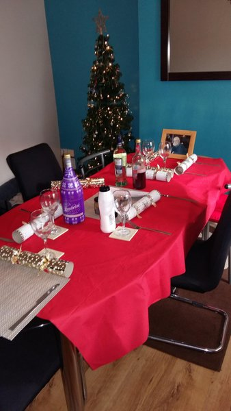 Head of our table on Christmas day dad xxxxx