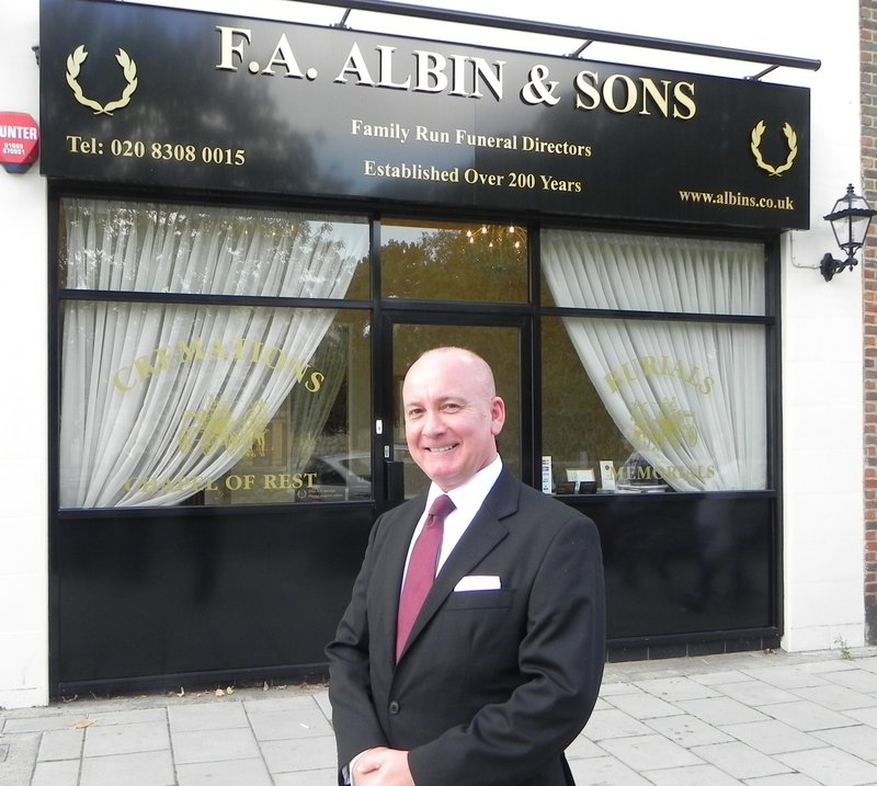 F.A. Albin Sidcup , South East London, funeral director in South East London