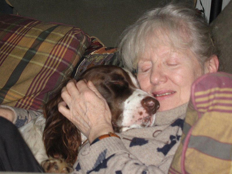 Boatswaine the mad Spaniel loved Maisie and she loved him!