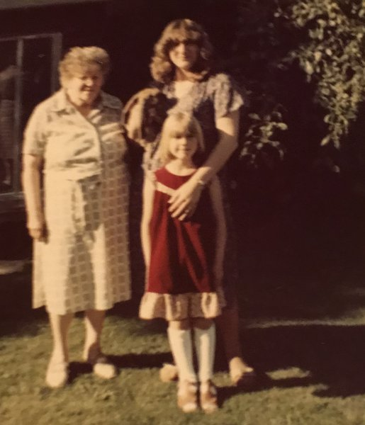 Denise with nan and Linzi. x