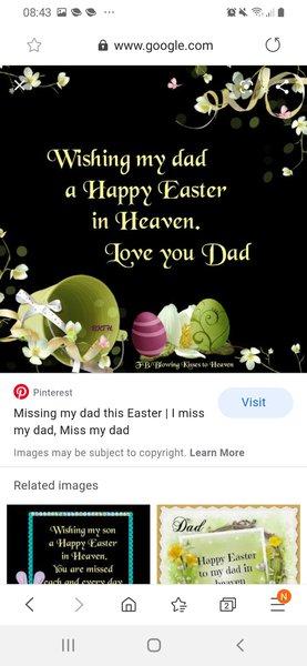 Happy Easter dad love &miss you xxxxxxxx