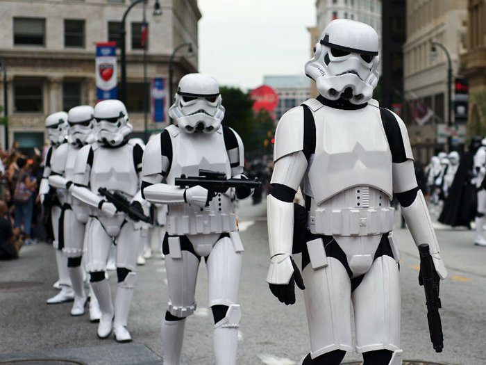 Stormtroopers in a procession