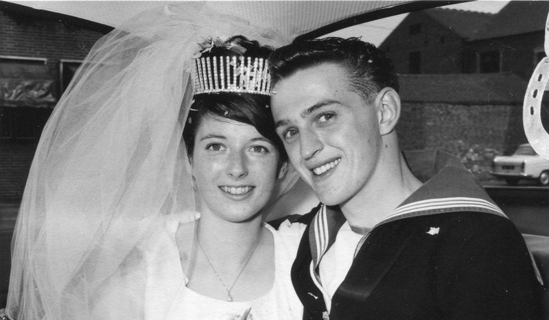 On our 54th wedding anniversary with all my love xxx