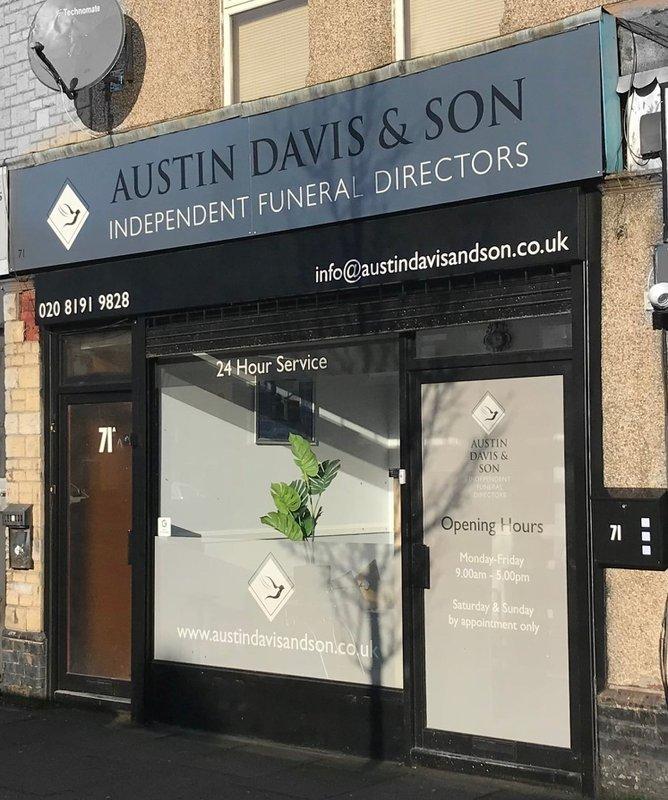 Austin, Davis & Son, Edmonton, London, funeral director in London