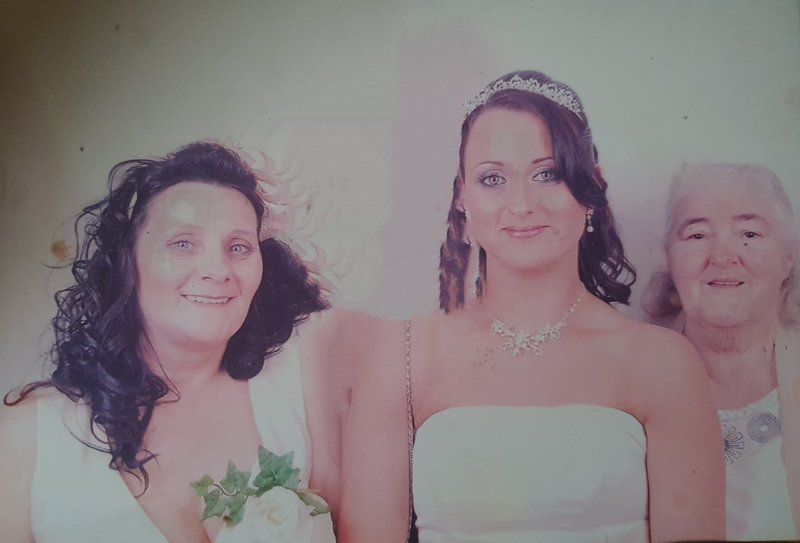 My nana my mum and me on my wedding day.  Love you forever nanna missing you so much. Xx