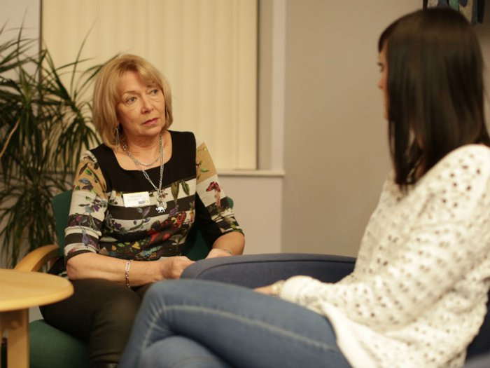 Grief counselling session at Marie Curie