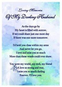 For my darling husband. Love dorothy. Xx