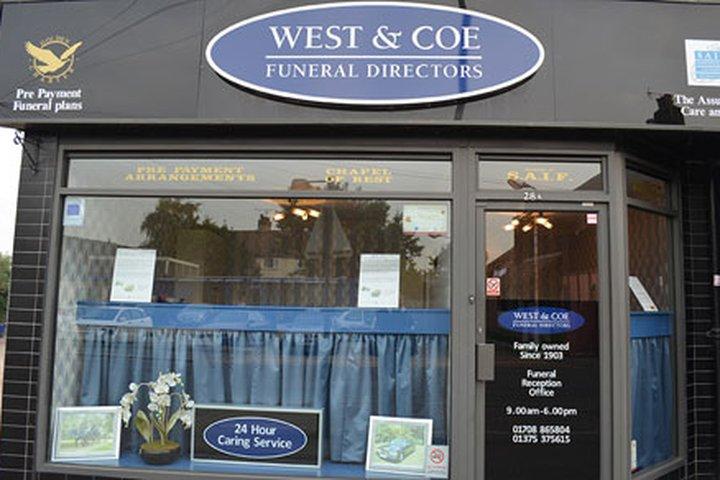 West & Coe Funeral Directors, Aveley