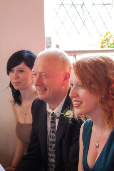 Bob with daughters Gayle (Left) and Helen (Right)   We miss you Dad xxx