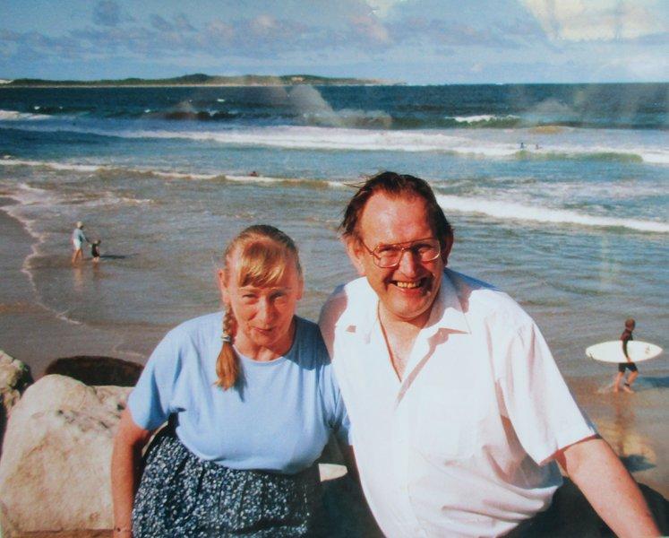 Rob and Brenda at Maroubra, Australia