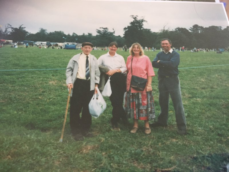 Stuart's good friend Eileen Lemoignan with 3 others at one of the many shows he attended.