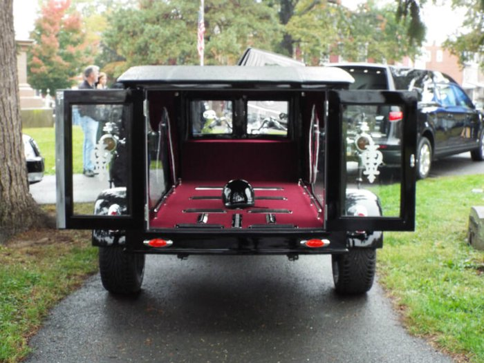 Alternative motorbike hearse