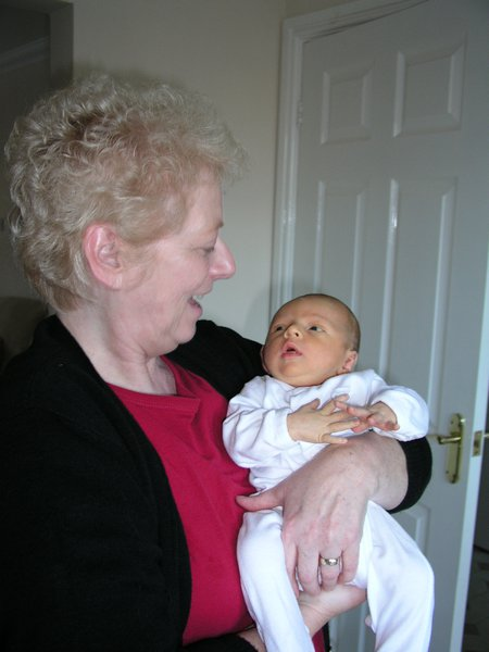 Mammar and her first grandson Charlie Sean Outram 10th November 2004