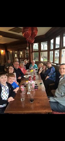 Celebrating Sue and Johns 40th Wedding anniversary with the family in 2015