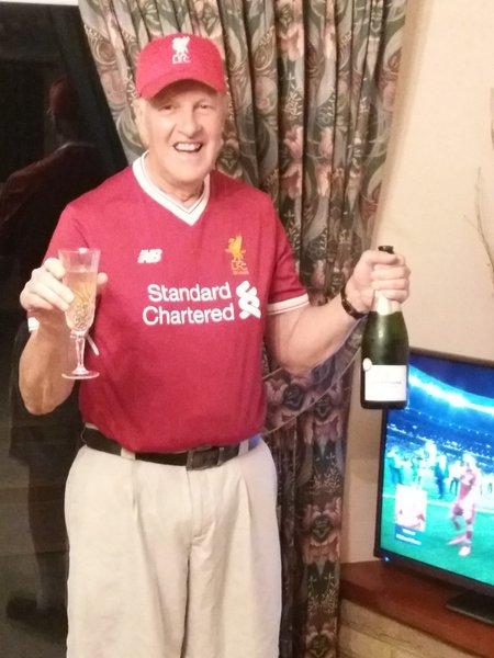 Celebrating Champions league win