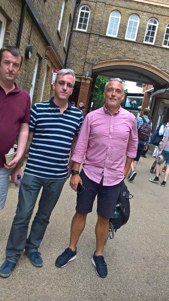 Lords 2017. Unfortunately none of us smiling here but what a fantastic day we had. An afternoon of great cricket, drinks and laughs in the sun. How blessed we were to have such a knowledgeable, charming and kind friend as James. Dom, Maff & Peter (Mus)