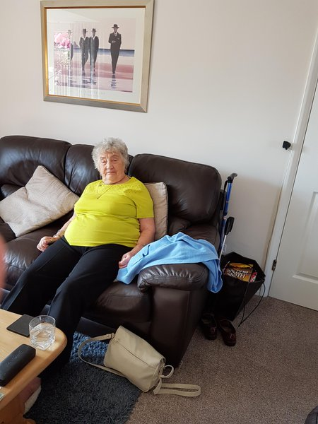 Mum at our place 2 weeks ago