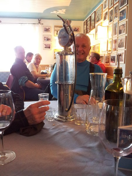 A delightful lunch on the slopes with a grappa (2012)